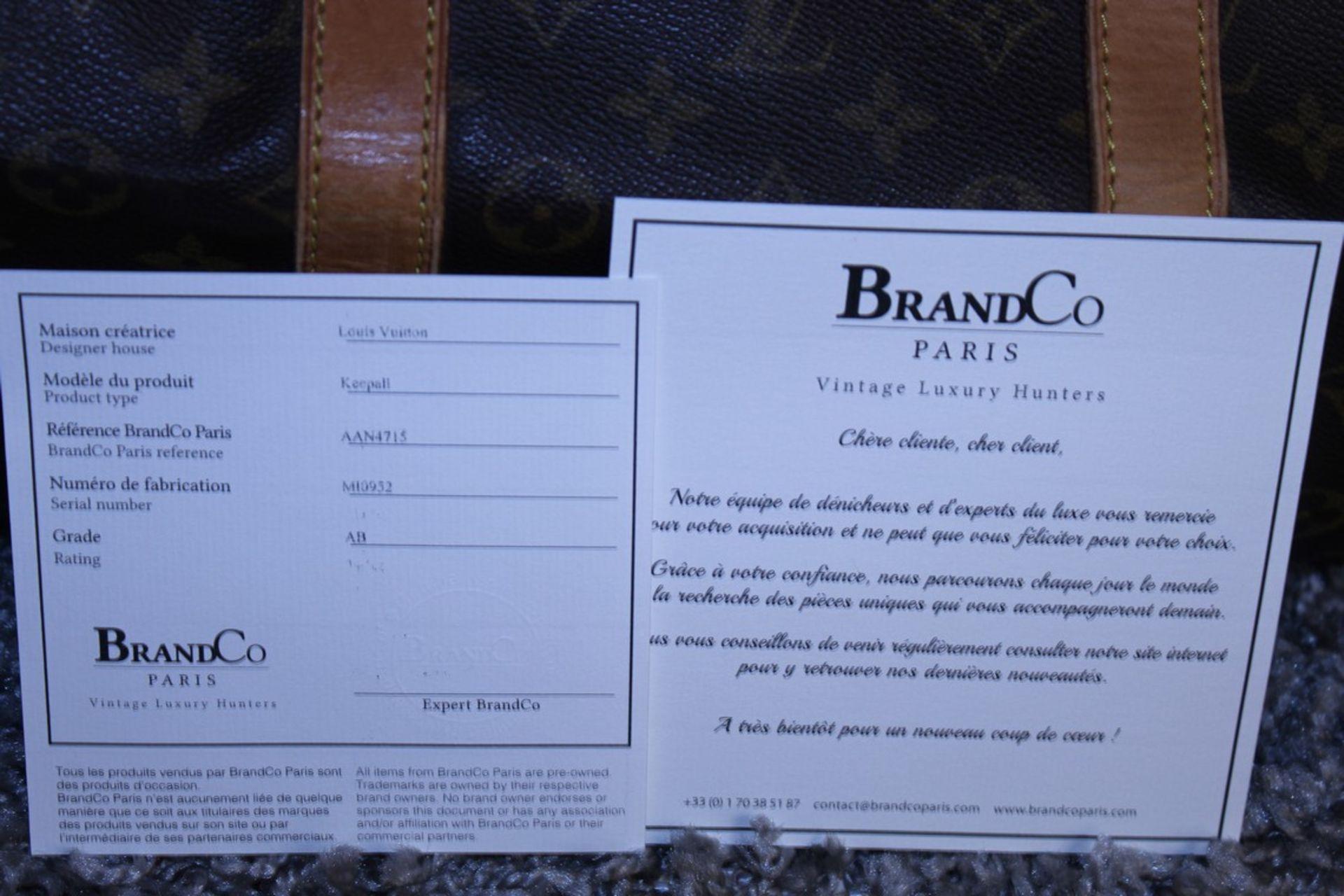 RRP £1,780 Louis Vuitton Keepall 55 Travel Bag, Brown Monogram Canvas, Vachetta Handles, 55X28X25Cm, - Image 5 of 5