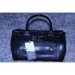 RRP £1300 Dior Interlocking D Belt Handbag In Black Calf Leather With Black Leather Handles. (