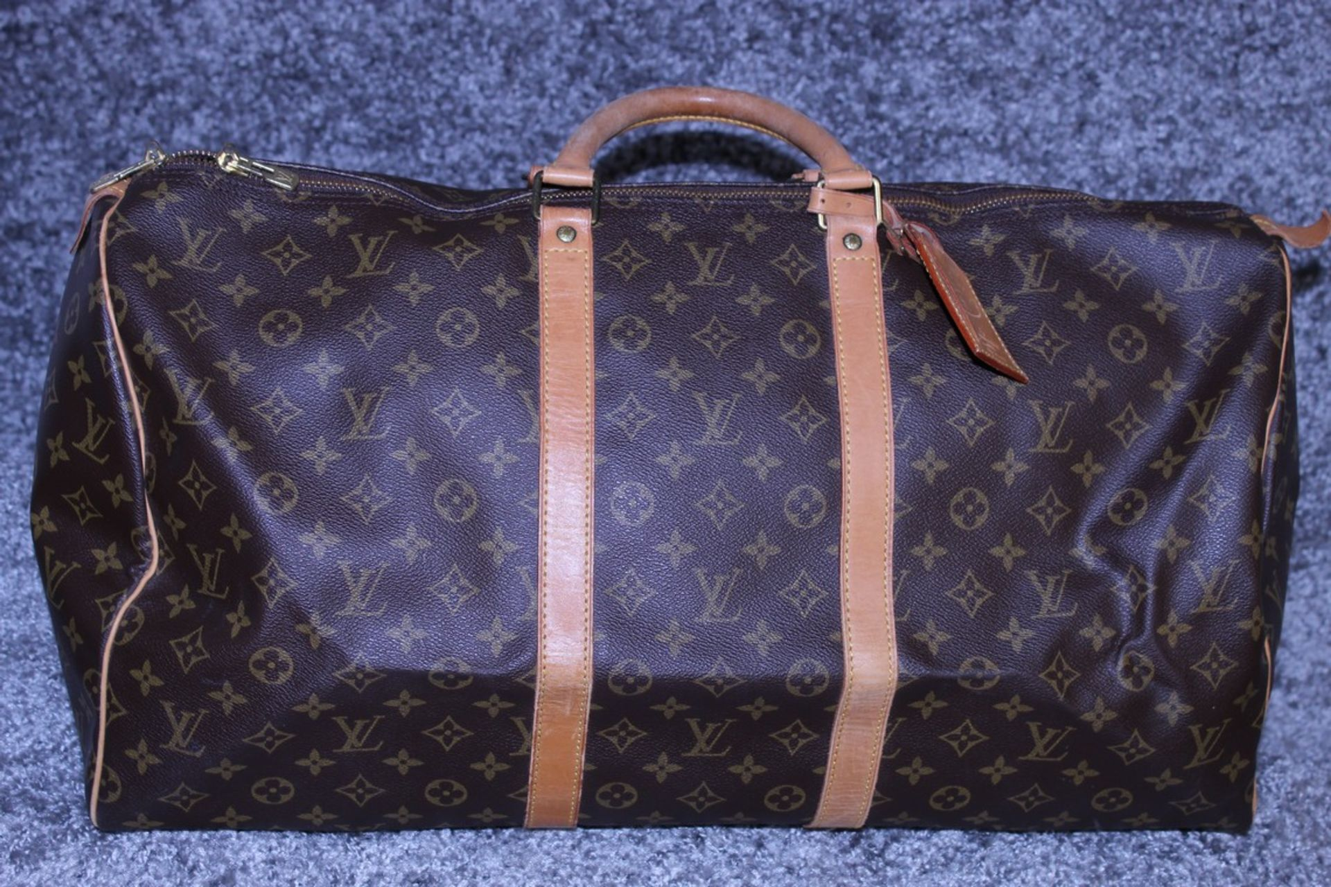 RRP £1,780 Louis Vuitton Keepall 55 Travel Bag, Brown Monogram Canvas, Vachetta Handles, 55X28X25Cm, - Image 2 of 5