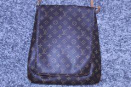 RRP £2,000 Louis Vuitton Musette Shoulder Bag, Brown Monogram Coated Canvas, Vachetta Handles,