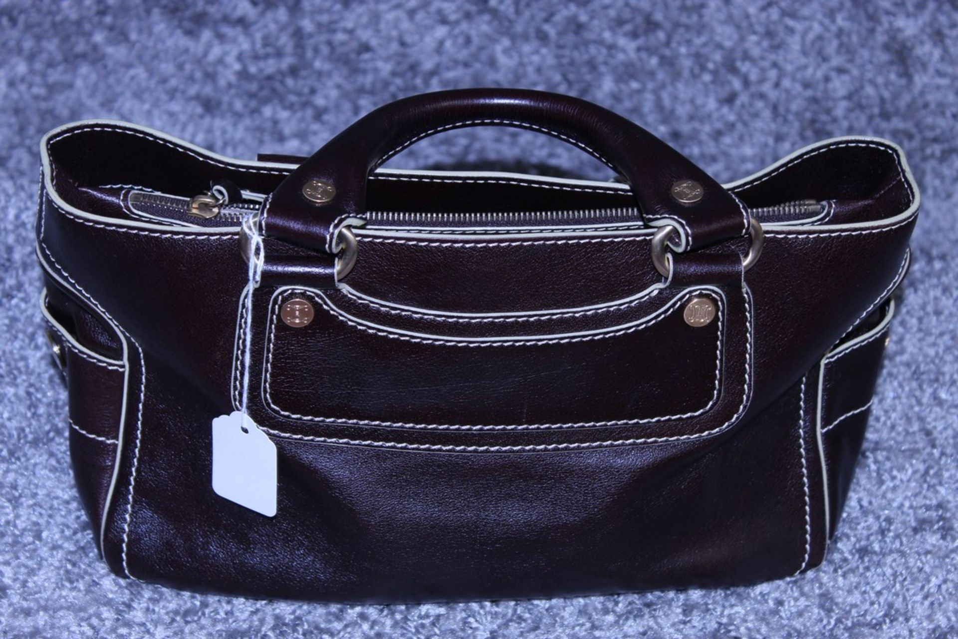 RRP £1,000 Celine Boogie Handbag, Brown Calf Small Grained Leather, Leather Handles, 22X30X13Cm ( - Image 3 of 5