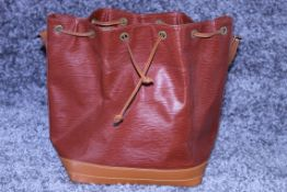 RRP £1,600 Louis Vuitton Noe Shoulder Bag, Gold Epi Calf Leather, Gold Leather Handles,