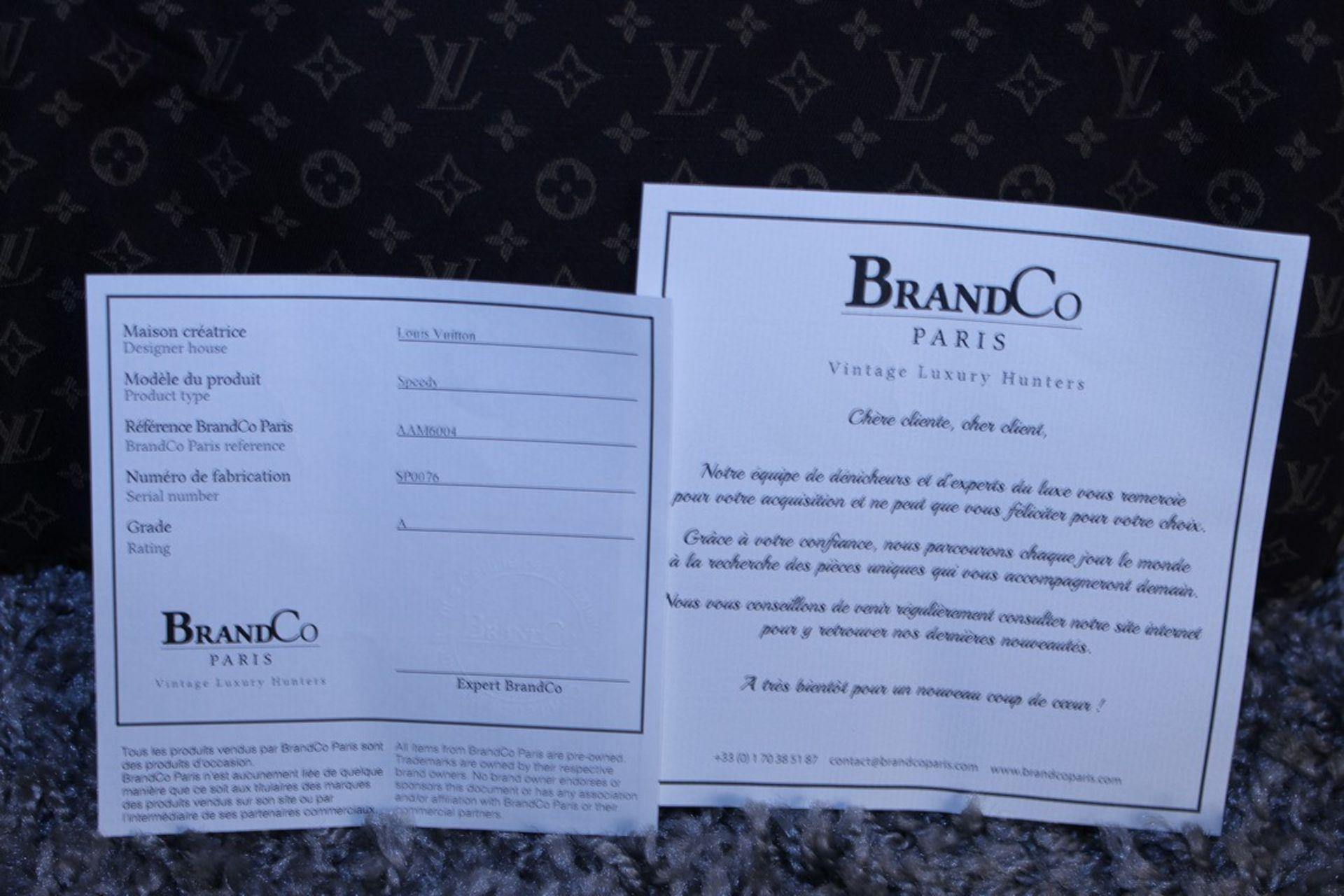 RRP £1,100 Louis Vuitton Speedy 30 Handbag, Dark Brown Canvas Monogram/Idylle Canvas, Dark Brown - Image 4 of 4