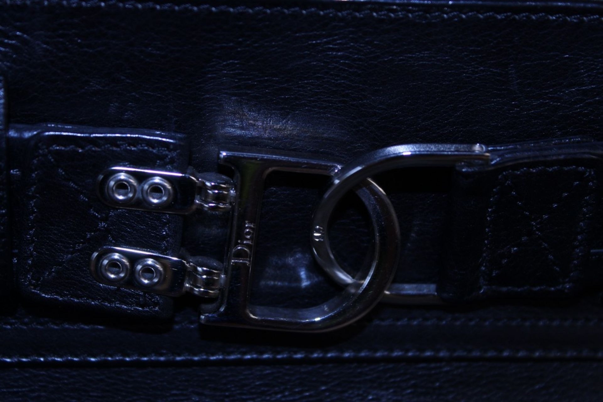 RRP £1300 Dior Interlocking D Belt Handbag In Black Calf Leather With Black Leather Handles. ( - Image 4 of 6