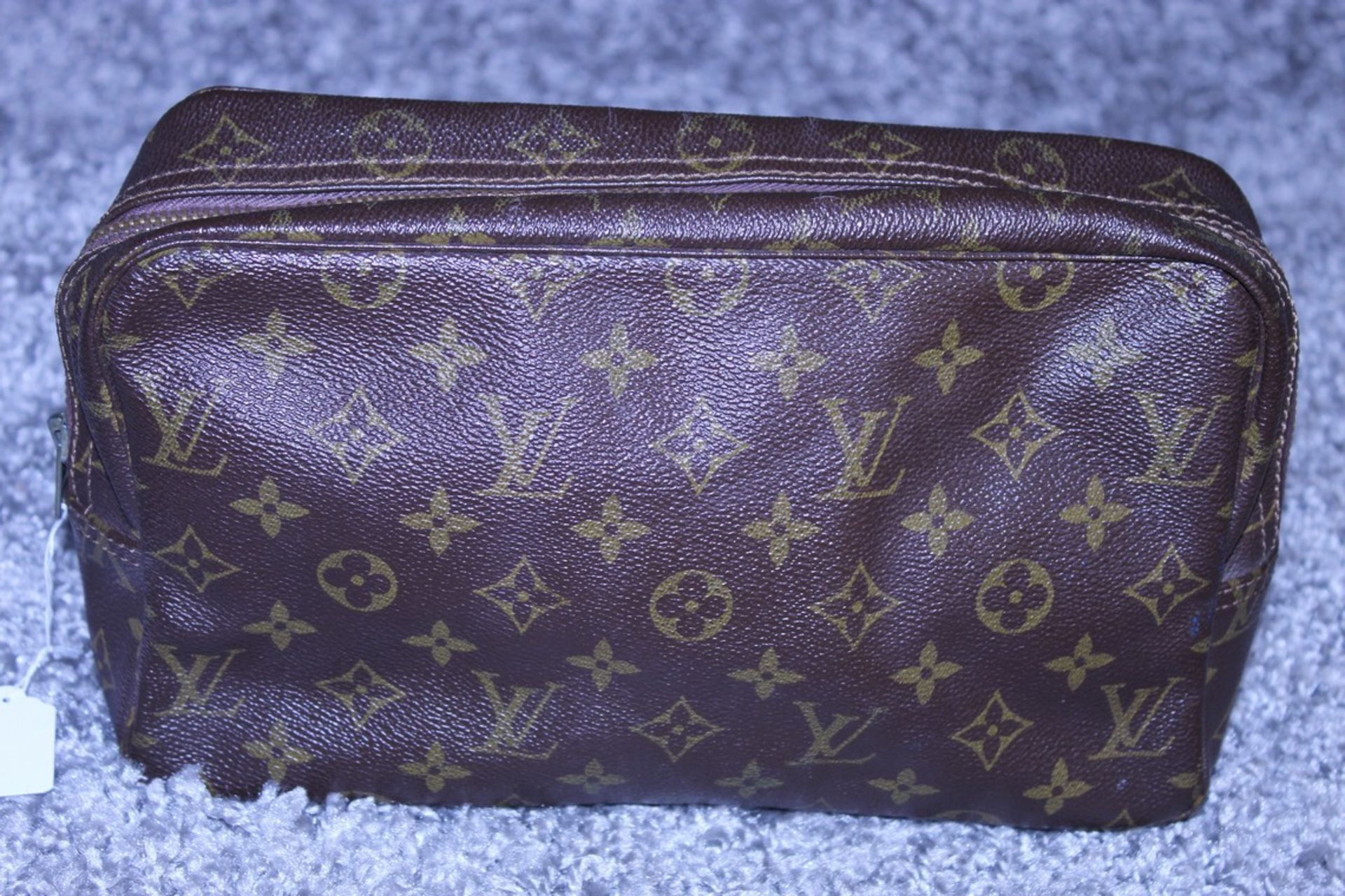 RRP £520 Louis Vuitton Toiletry Pouch, Brown Coated Canvas (Production Code 821) Condition Rating - Image 2 of 4