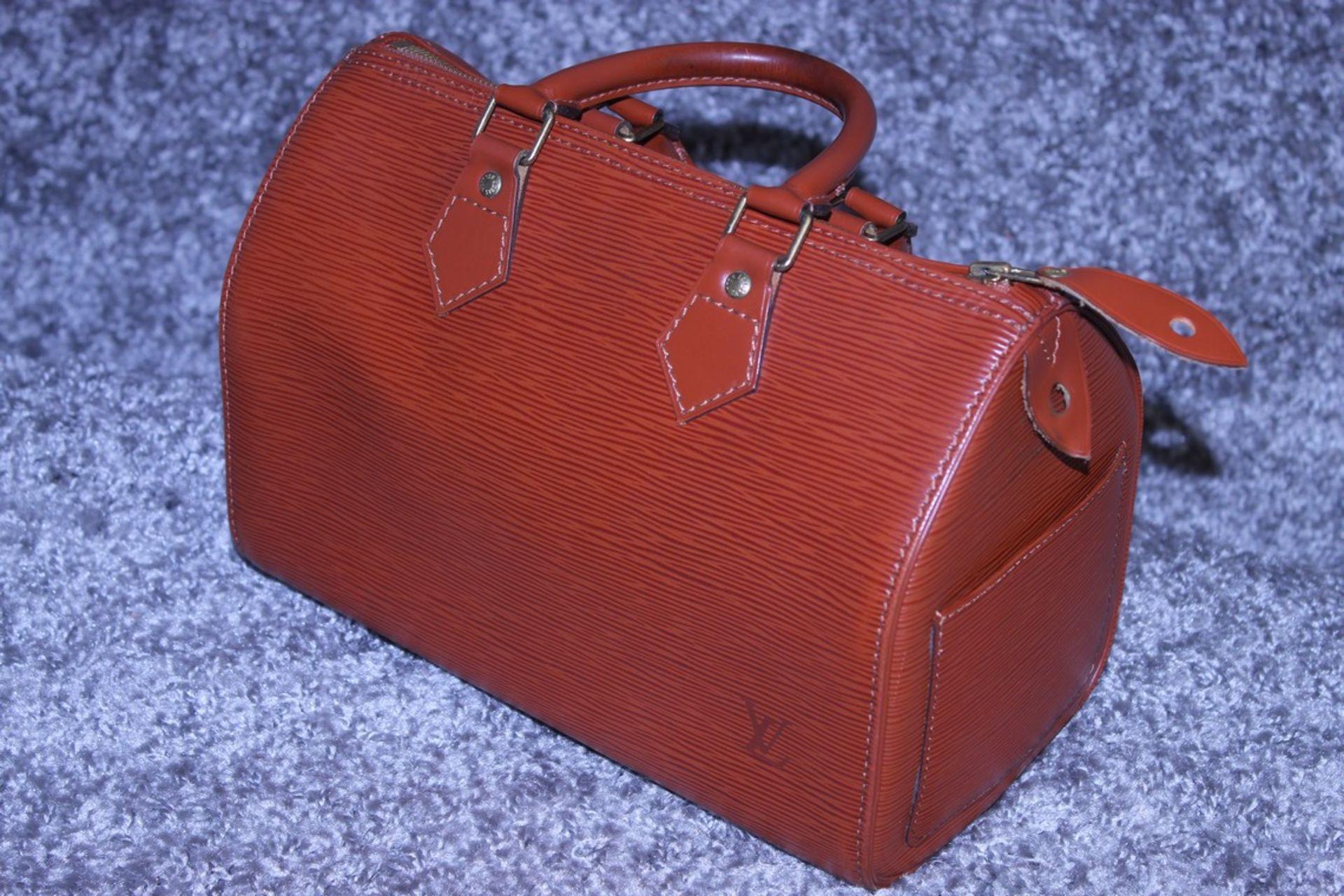 RRP £1,000 Louis Vuitton Speedy 25 Handbag, Tan Epi Calf Leather 27X19X15Cm (Production Code Vi1922) - Image 3 of 4