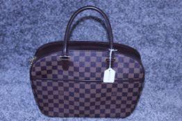 RRP £1,900 Louis Vuitton Sarria Horizontal Handbag, Brown Damier Ebene Coated Canvas, 28.5X23X9Cm (