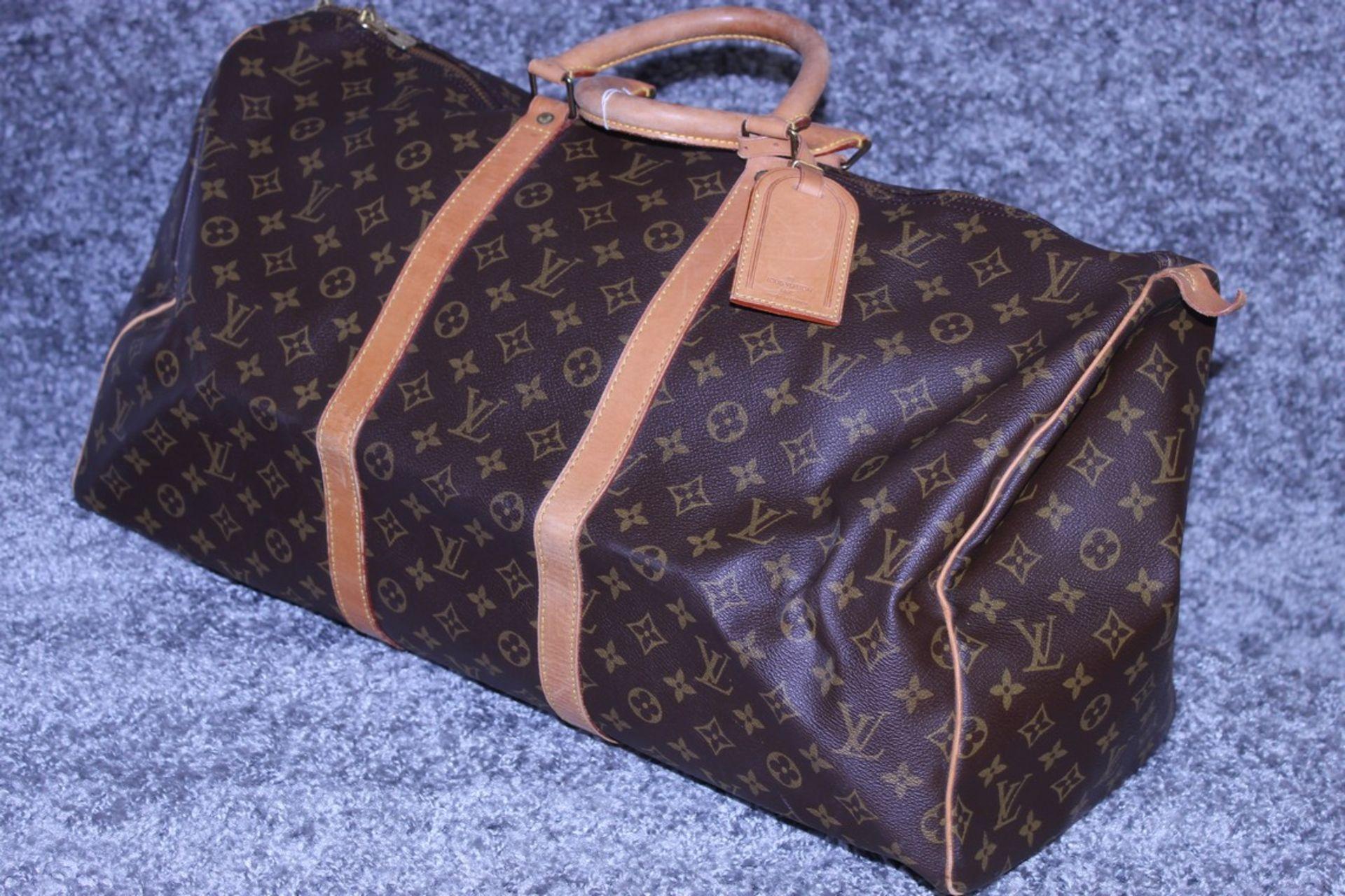 RRP £1,780 Louis Vuitton Keepall 55 Travel Bag, Brown Monogram Canvas, Vachetta Handles, 55X28X25Cm, - Image 3 of 5