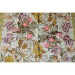 RRP £680 Hermes 100% Twill Silk Scarf, Aquilegia Othonis By Niki Goulandris, Yellow/Green, 90X90Cm