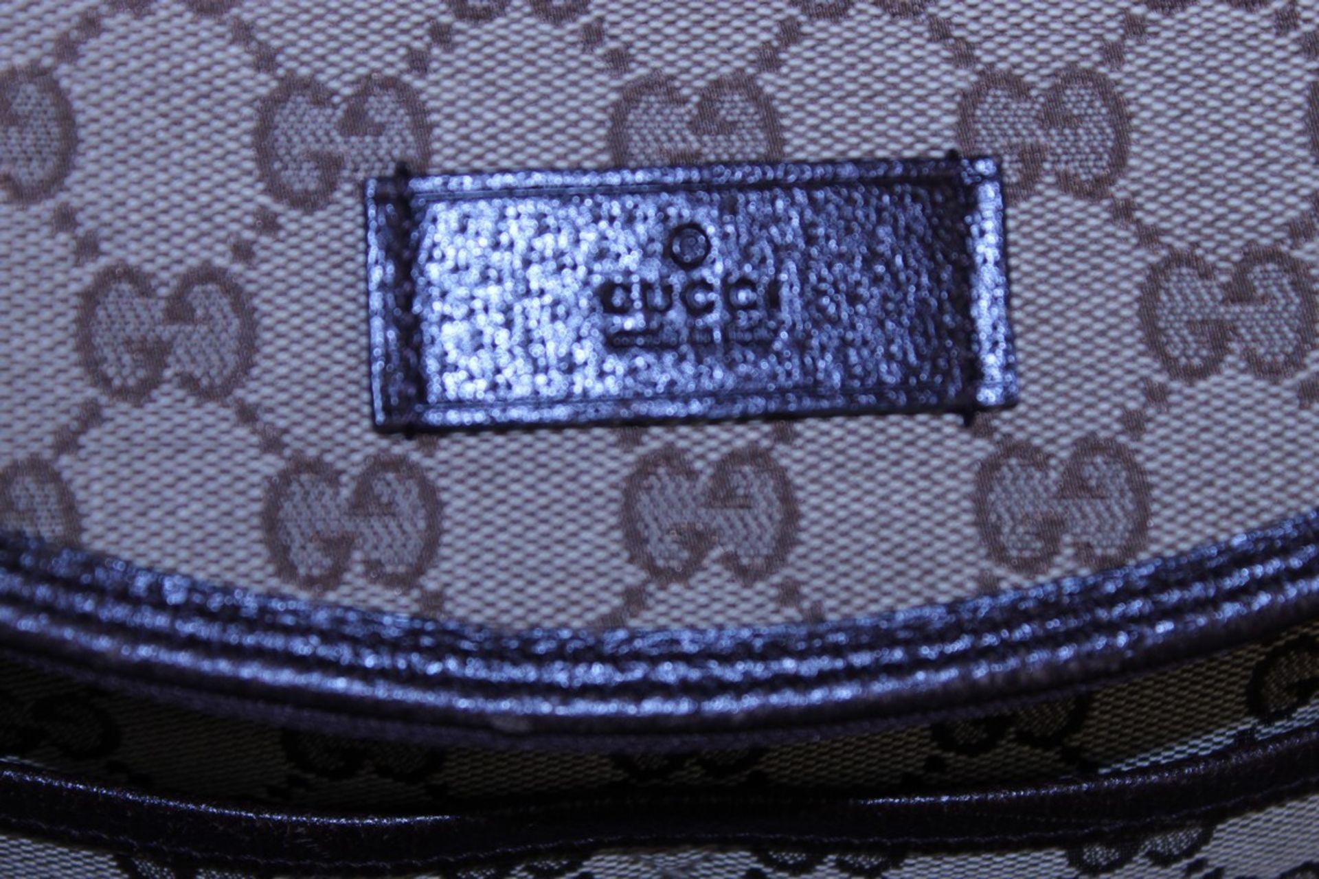 RRP £1,200 Gucci Original Diaper Bag, Beige/Dark Brown Monogramme Canvas, 36X28X12Cm (Production - Image 4 of 5