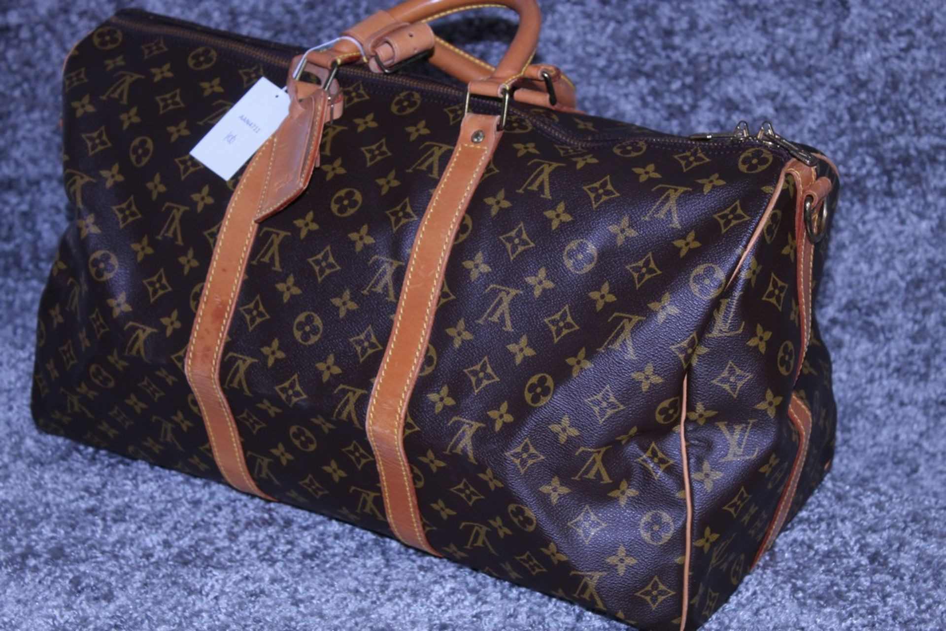 RRP 2,000 Louis Vuitton Keepall 50 Bandouliere Shoulder Bag, Brown Coated Canvas Monogram, - Image 3 of 6