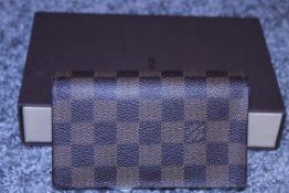 RRP £690 Louis Vuitton Porte-Monnaie Billet Wallet, Brown Damier Ebene Coated Canvas, 14.5X9X2.