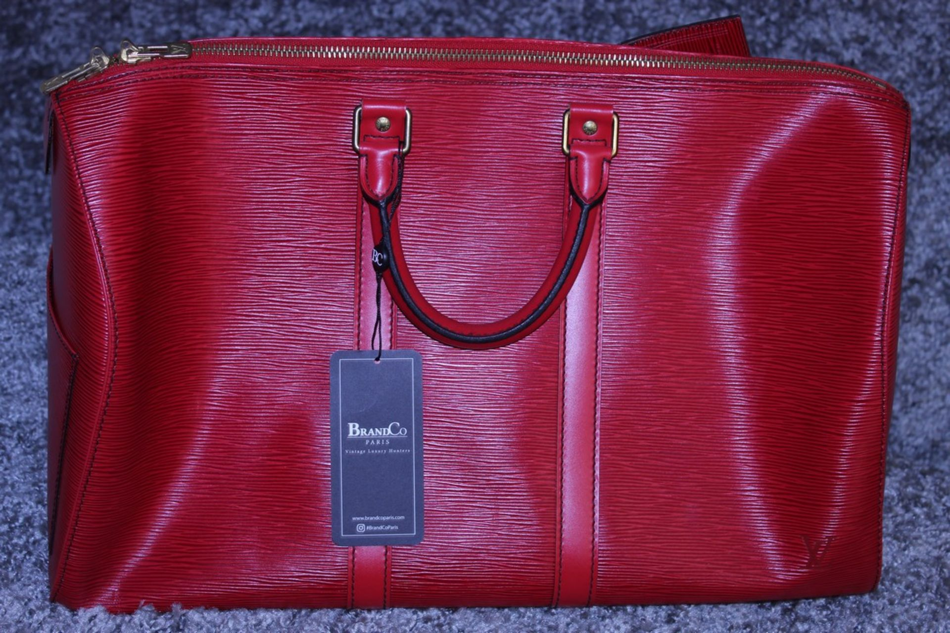 RRP £1,400 Louis Vuitton Keepall 45 Travel Bag, Red Calf Red Epi Leather, 48X28X20Cm, (Production - Image 2 of 4