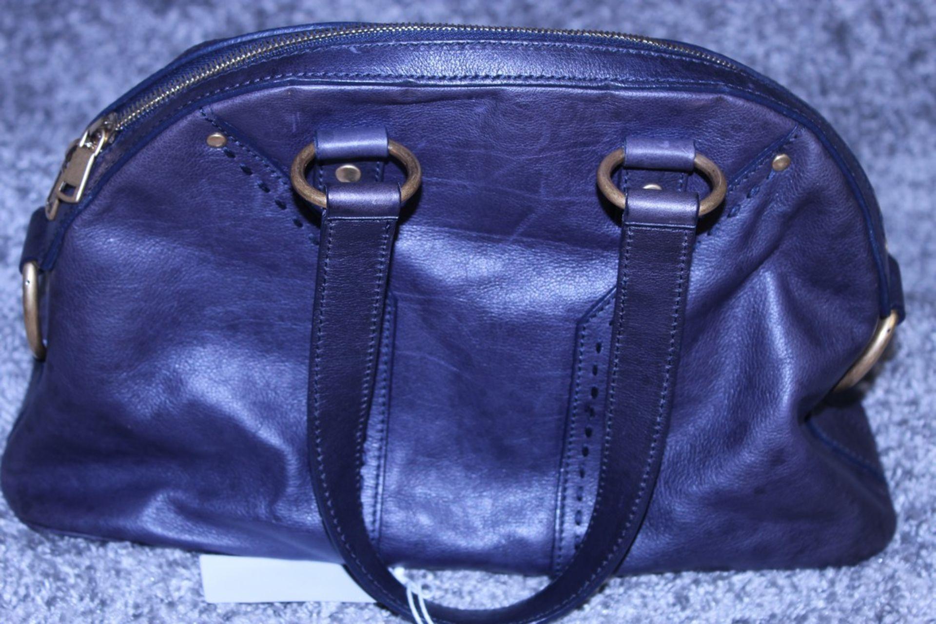RRP £1,000 Yves St-Lauren Muse 1 Shoulder Bag, Indigo Small Grained Calf Leather Shoulder Bag, ( - Image 2 of 5