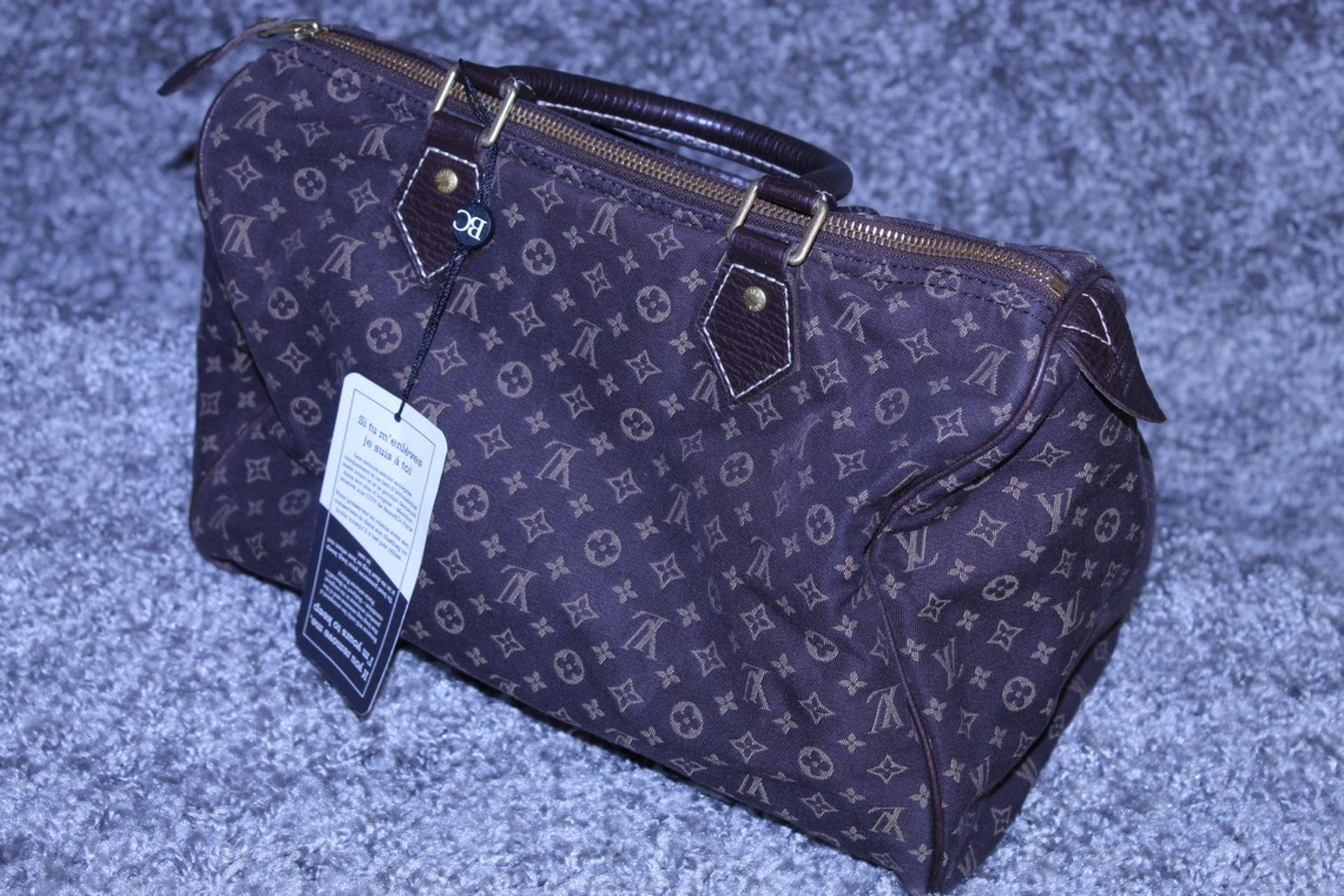 RRP £1,100 Louis Vuitton Speedy 30 Handbag, Dark Brown Canvas Monogram/Idylle Canvas, Dark Brown - Image 3 of 4