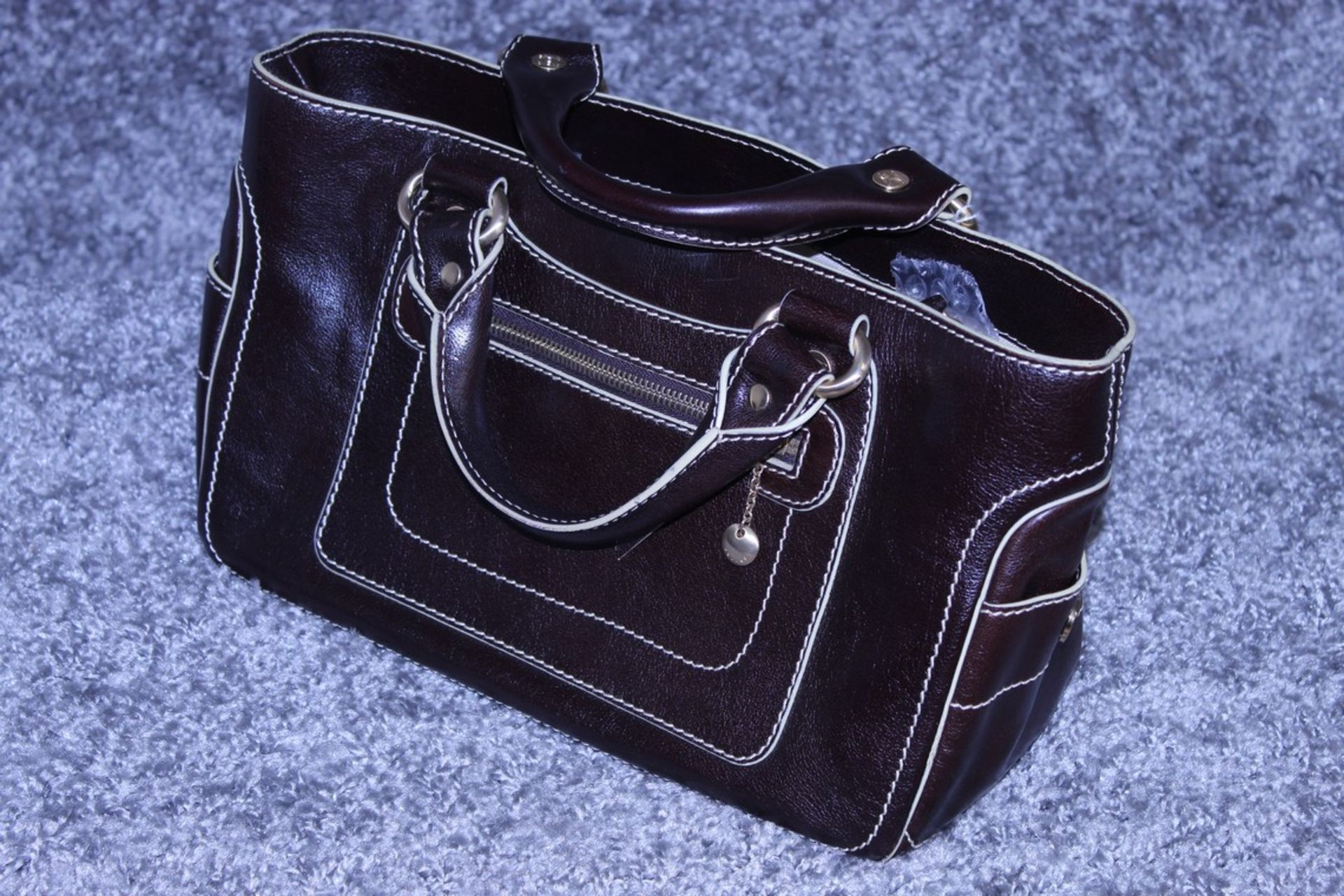RRP £1,000 Celine Boogie Handbag, Brown Calf Small Grained Leather, Leather Handles, 22X30X13Cm ( - Image 4 of 5
