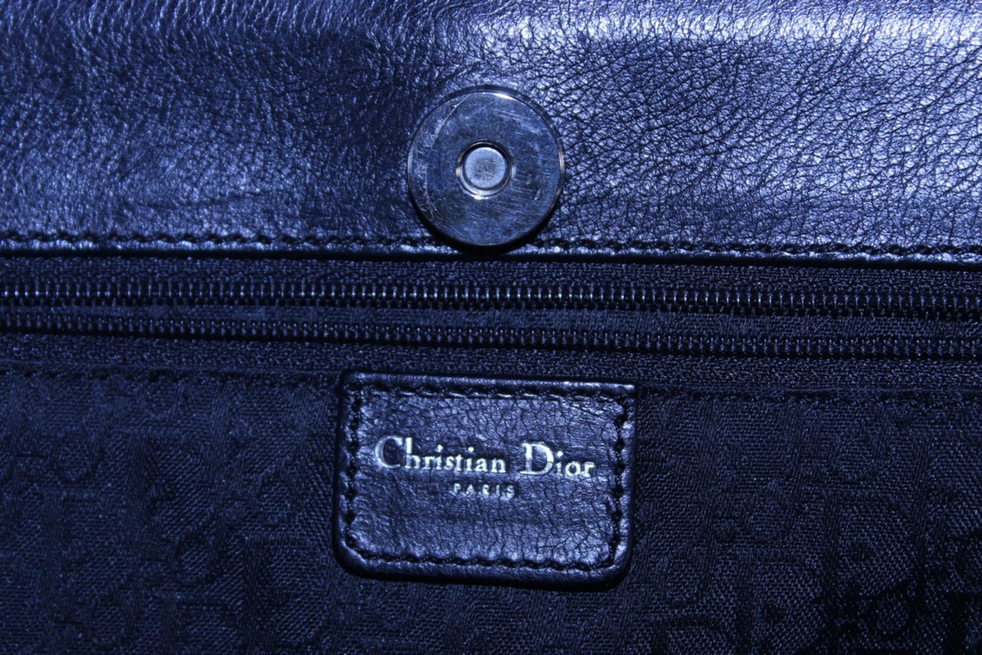 RRP £1300 Dior Interlocking D Belt Handbag In Black Calf Leather With Black Leather Handles. ( - Image 5 of 6