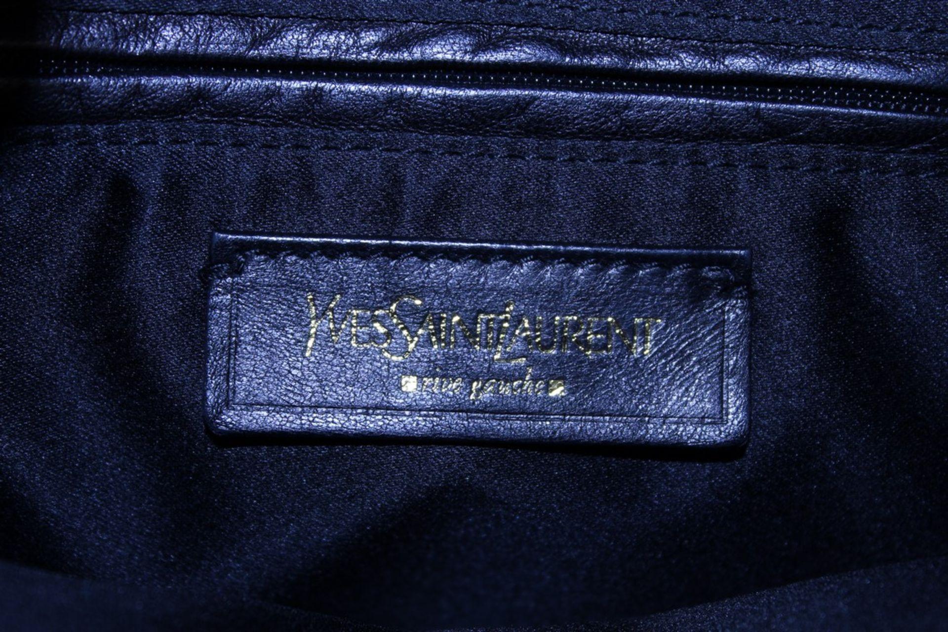 RRP £1,000 Yves St-Lauren Muse 1 Shoulder Bag, Indigo Small Grained Calf Leather Shoulder Bag, ( - Image 4 of 5
