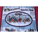 RRP £680 Hermes 100% Twill Silk Scarf , L'Hiver En Poste By Philippee Ledoux, 90X90Cm, Condition