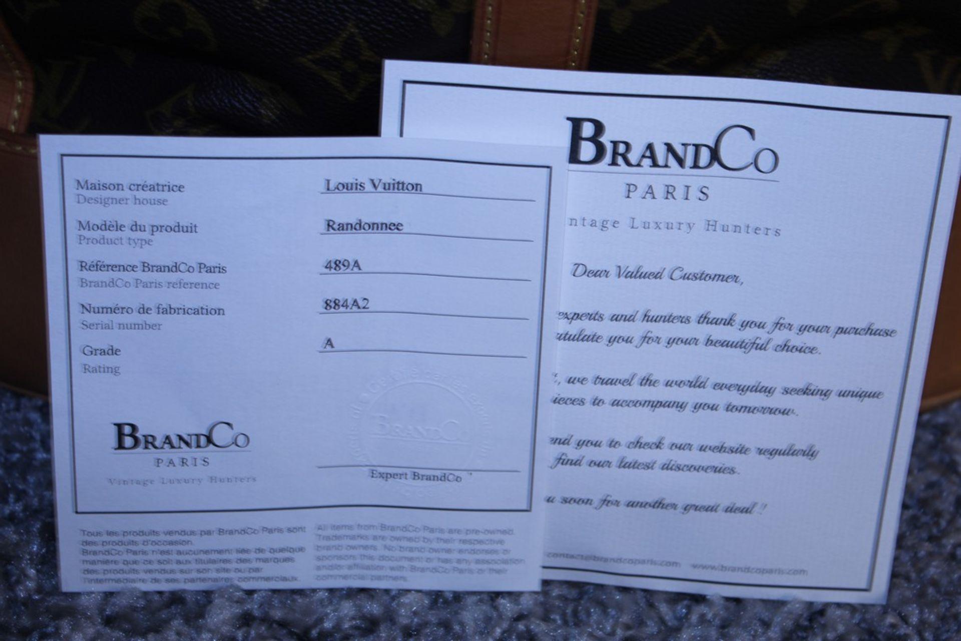 RRP £1,800 Louis Vuitton Randonnee Shoulder Bag, Brown Monogram Coated Canvas, Vachetta Handles, ( - Image 4 of 4