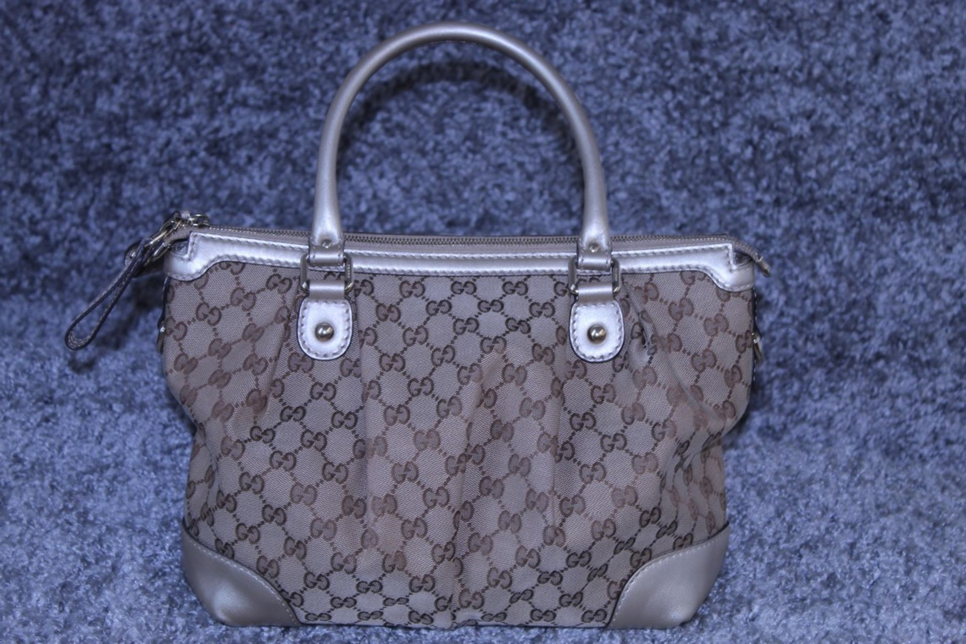 RRP £1,600 Sukey Top Handle Shoulder Bag, Beige/Brown Monogram Canvas, 28.5X22X12Cm (Production Code - Image 2 of 5