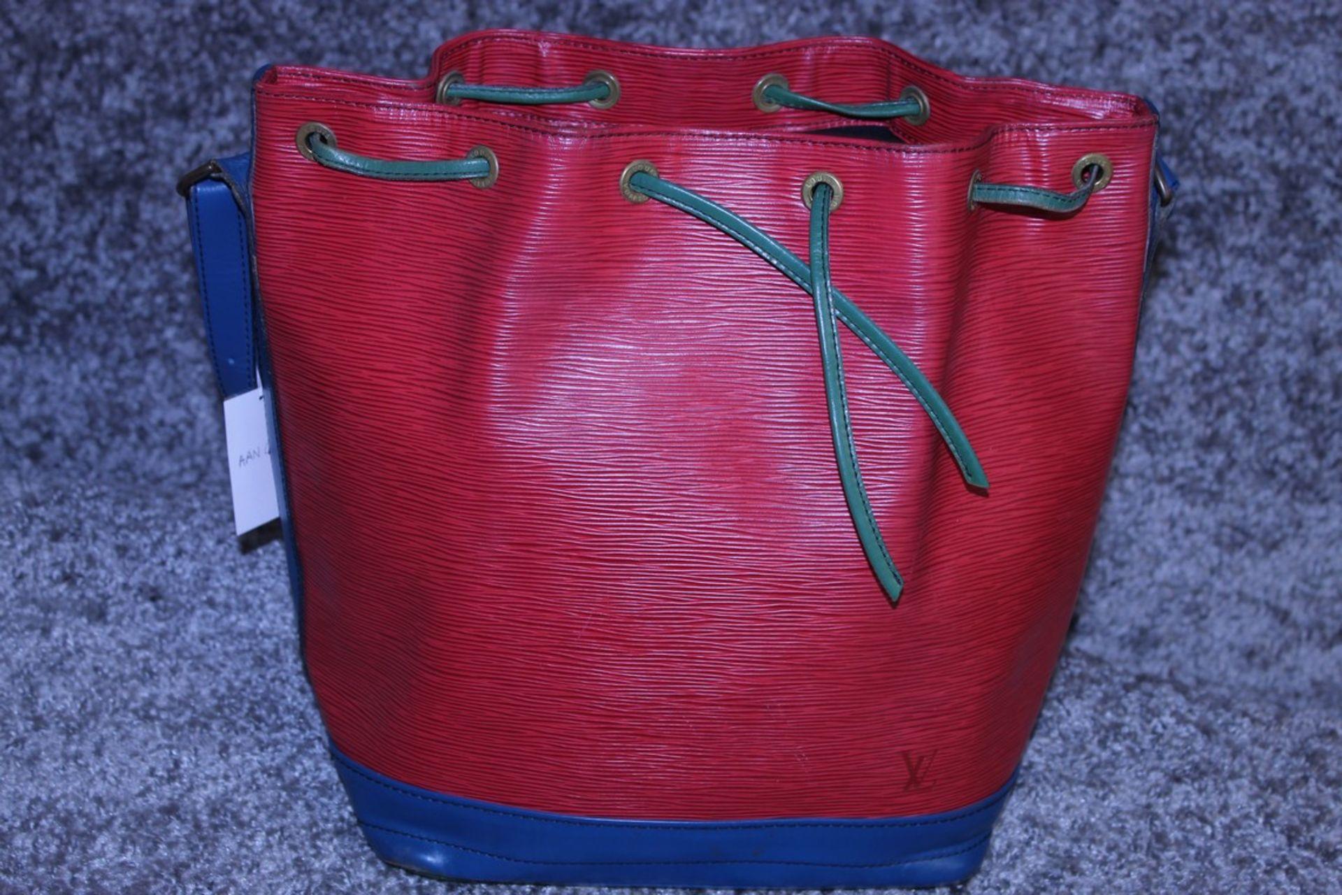 RRP £1,200 Noe Tricolor Shoulder Bag, Red/Blue/Green Epi Claf Leather With Black Stitching - Image 2 of 4