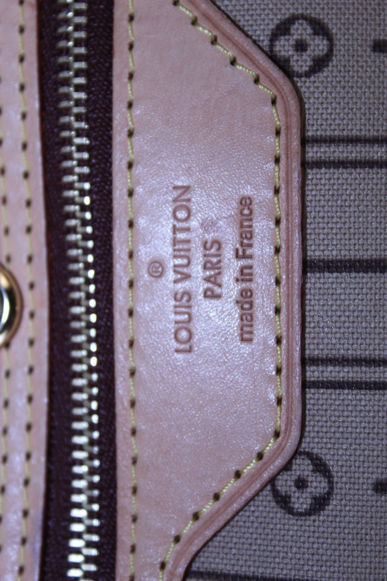 RRP £1500 Louis Vuitton Neverfull Handbag In Brown Coated Monogram Canvas With Vachetta Handle ( - Image 5 of 6