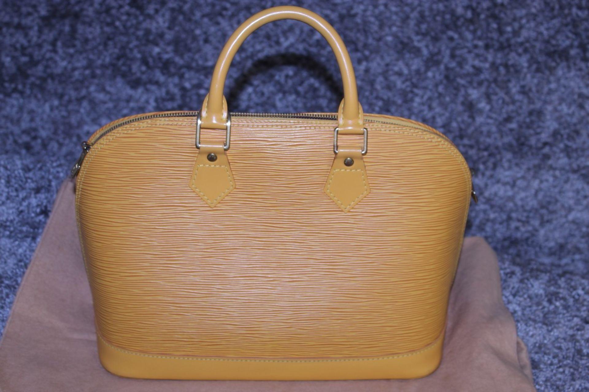 RRP £1,700 Louis Vuitton Alma Yellow Calf Epi Leather Handbag, Complete With Cadena, Keys & Dust Bag - Image 2 of 4