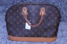 RRP £900 Louis Vuitton Alma Handbag, Monogram Coated Brown Canvas, 29X23X15Cm (Proudction Code