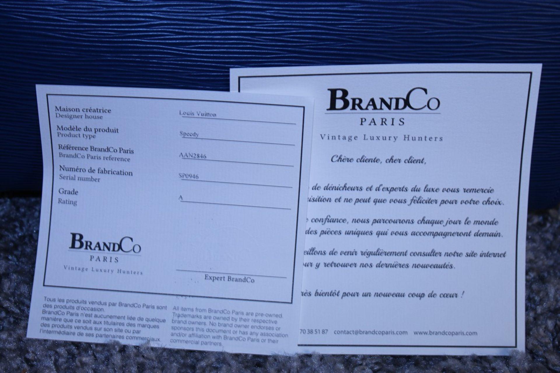RRP £1,000 Louis Vuitton Speedy 25 Handbag, Blue Epi Calf Leather, 27X19X15Cm (Production Code - Image 5 of 5