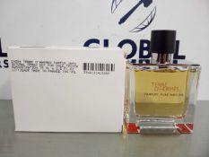 RRP £75 Boxed Brand New Full Tester Bottle Of Terre D'Hermes 75Ml Parfum