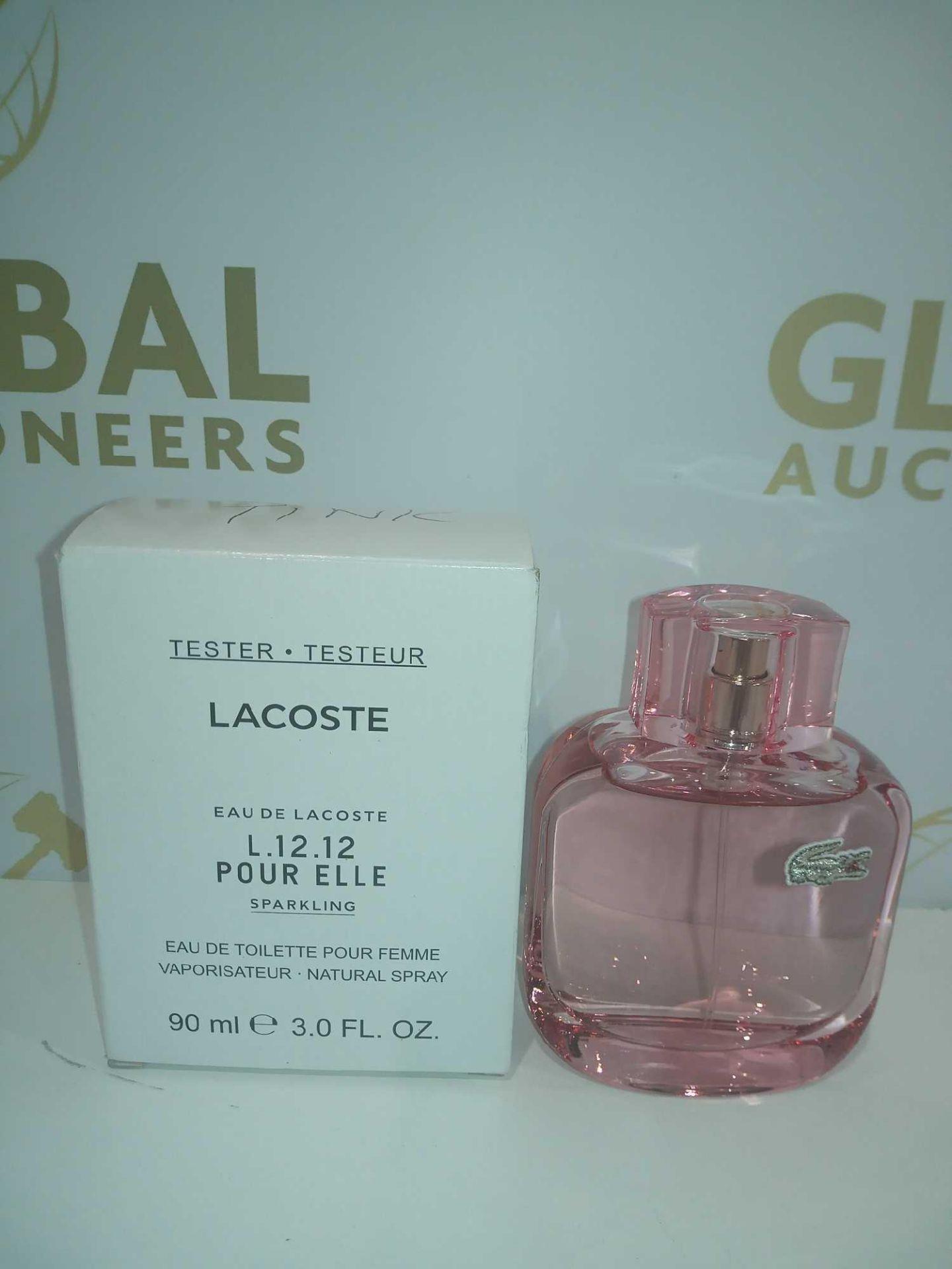 RRP £60 Boxed Brand New Full Tester Bottle Of Lacoste Pink 90Ml Eau De Toilette Pour Femme