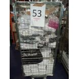 Cage To Contain A Large Assortment Of Items To Include Dior Xmas Shop Bags, Facial Tissue, Medium