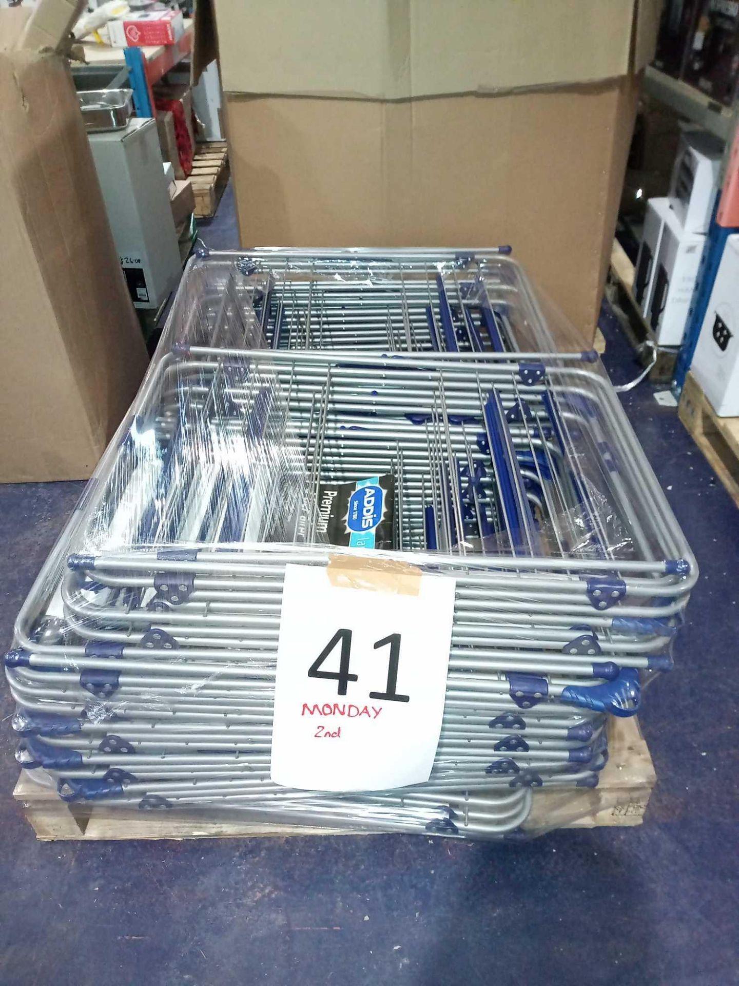 RRP £450 Pallet To Contain 15 Assorted Addis Laundry Serve Premium 3 Tier Airer Racks (Appraisals