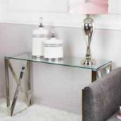 RRP £100 Boxed Home Cimc Glass Console Table