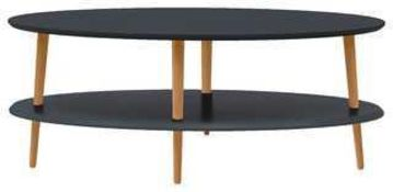RRP £120 Boxed Ovo Graphite Coffee Table