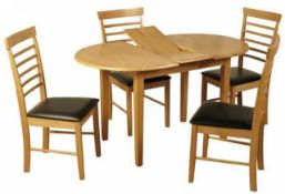 RRP £230 Boxed Three Posts Butterfly Dining Table