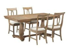 RRP £599 Sourced From Harvey's Furniture Boxed Versailles Extending Dining Table (Top Only)