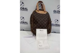 RRP £1100 Louis Vuitton Excursion Brown Coated Monogram Canvas Vachetta Golden Brass Hardware (