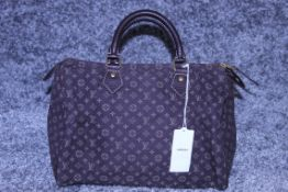 RRP £1,100 Louis Vuitton Speedy 30 Handbag, Dark Brown Canvas Monogram/Idylle Canvas, Dark Brown