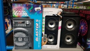 8 ITEMS – 2 X IDANCE BLASTER 5 PARTY BOX SYSTEM BLUETOOTH SPEAKER & 6 X WIRELESS MUSIC BLASTER &