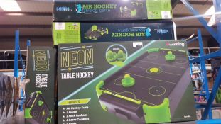 9 X #WINNING NEON TABLE HOCKEY