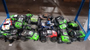 APPROX 18 X MIXED RC CARS (AS SEEN)