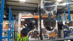 13 ITEMS – 6 X CREEPY CREATURES RC TARANTULA & 7 X WALL CLIMBING RC TARANTULA