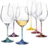 RRP £80 Lot To Contain 2 Boxed Brand New Spectrum Sets Of 4 820Ml Bohemia Drinking Glasses