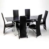 RRP £600 Boxed Sarah Extending Glass Dining Table