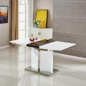 RRP £600 Boxed Belmonte Dining Table In White And Black