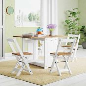 RRP £195 Boxed August Grove Southgate Folding Dining Set And Chairs