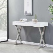 RRP £199 Boxed Mayline White High Gloss Console Table