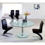 RRP £170 Boxed Furniture In Fashion Maxi Round Glass Dining Table